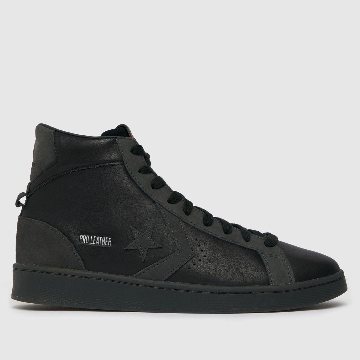 Converse Black Ctas Hi Pro Leather Mid Trainers