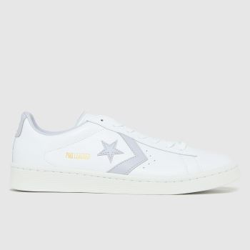 Converse White Ox Pro Leather Mens Trainers