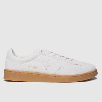 Converse Beige & Brown Ox Pro Leather Mens Trainers#
