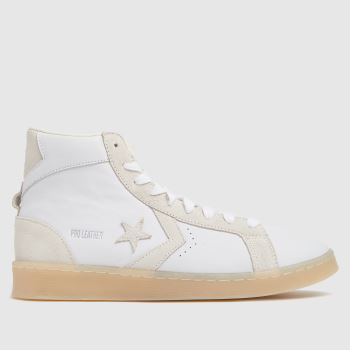 Converse White Hi Pro Leather Mid Mens Trainers