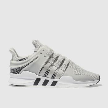 ADIDAS WHITE & GREY EQT SUPPORT ADV TRAINERS