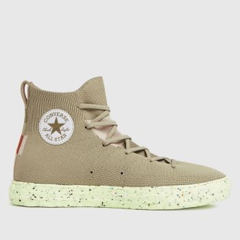 Converse Khaki Renew Crater Knit Hi Mens Trainers