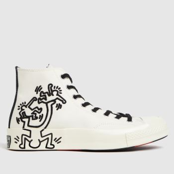 Converse White Chuck 70 Keith Haring Hi Mens Trainers