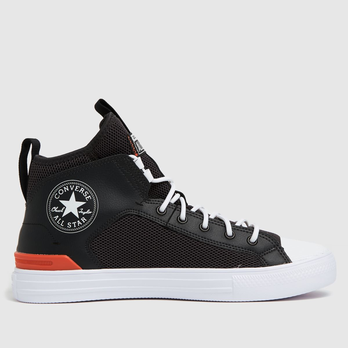 Converse Black & White Ultra Lt Weight Mid Trainers