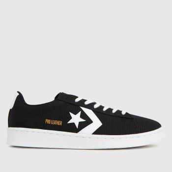 Converse Black & White Pro Leather Court Ox Mens Trainers