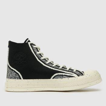Converse Black & White Renew Chuck 70 Knit Hi Mens Trainers