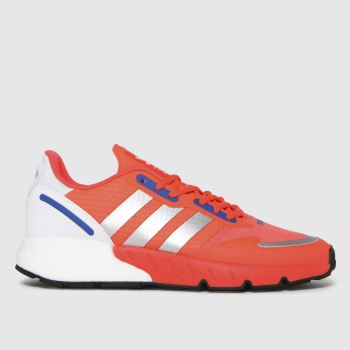 adidas Red Zx 1k Boost Mens Trainers