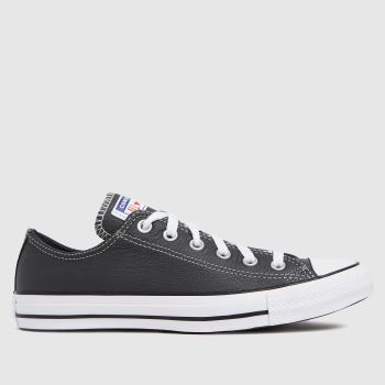 Converse Grey Leather Ox Mens Trainers