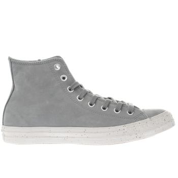 CONVERSE GREY CHUCK TAYLOR ALL STAR HI TRAINERS