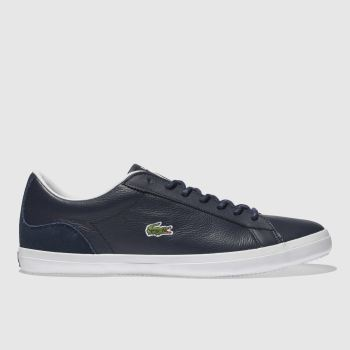Lacoste Navy & White Lerond Mens Trainers
