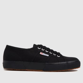SUPERGA BLACK 2750 TRAINERS