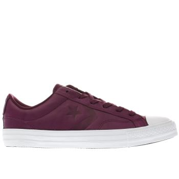 Converse Burgundy Star Player Ox Mens Trainers