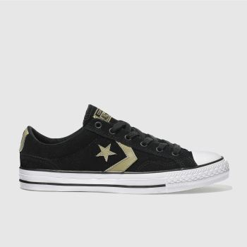 CONVERSE BLACK STAR PLAYER OX TRAINERS