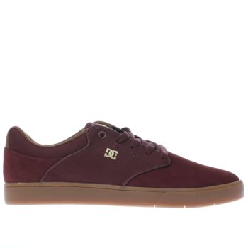 Dc Shoes Burgundy Mikey Taylor Mens Trainers