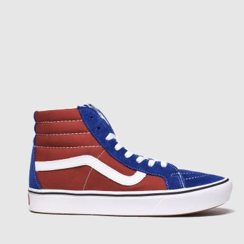 Vans Navy & Red Comfycush Sk8-Hi Mens Trainers