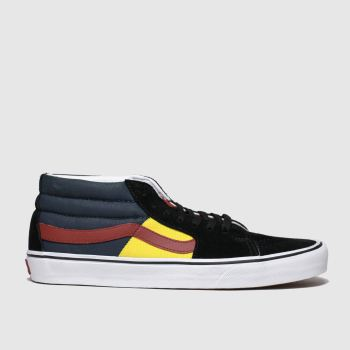 Vans Black & Red Sk8-Mid Otw Rally Mens Trainers