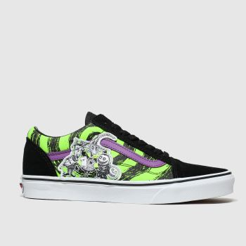 vans black & purple old skool x tnbc trainers