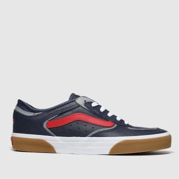 Vans Navy & Red Rowley Classic Mens Trainers