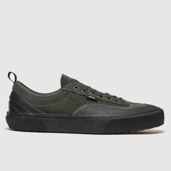 Vans Black & Green Destruct Mens Trainers