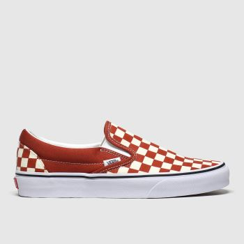 Vans Brown & Stone Classic Slip-on Check Mens Trainers
