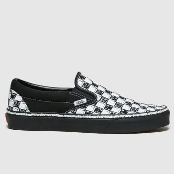 Vans Black & White Classic Slip-on Mens Trainers