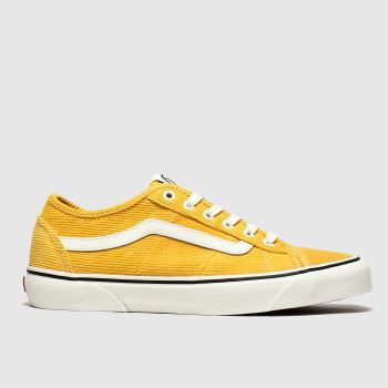 vans yellow bess new issue cord trainers