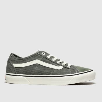 Vans Dark Green Bess New Issue Cord Mens Trainers
