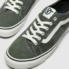 vans dark green bess new issue cord trainers