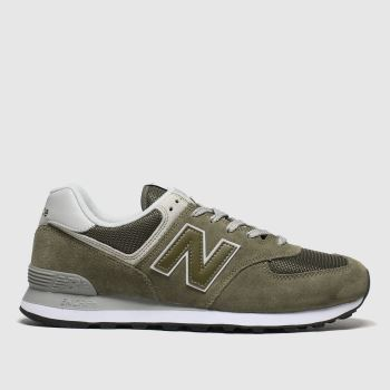 New Balance Khaki 574 Mens Trainers#
