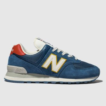 New Balance Blue 574 Mens Trainers