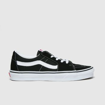 Vans Black & White Sk8 Low Mens Trainers#