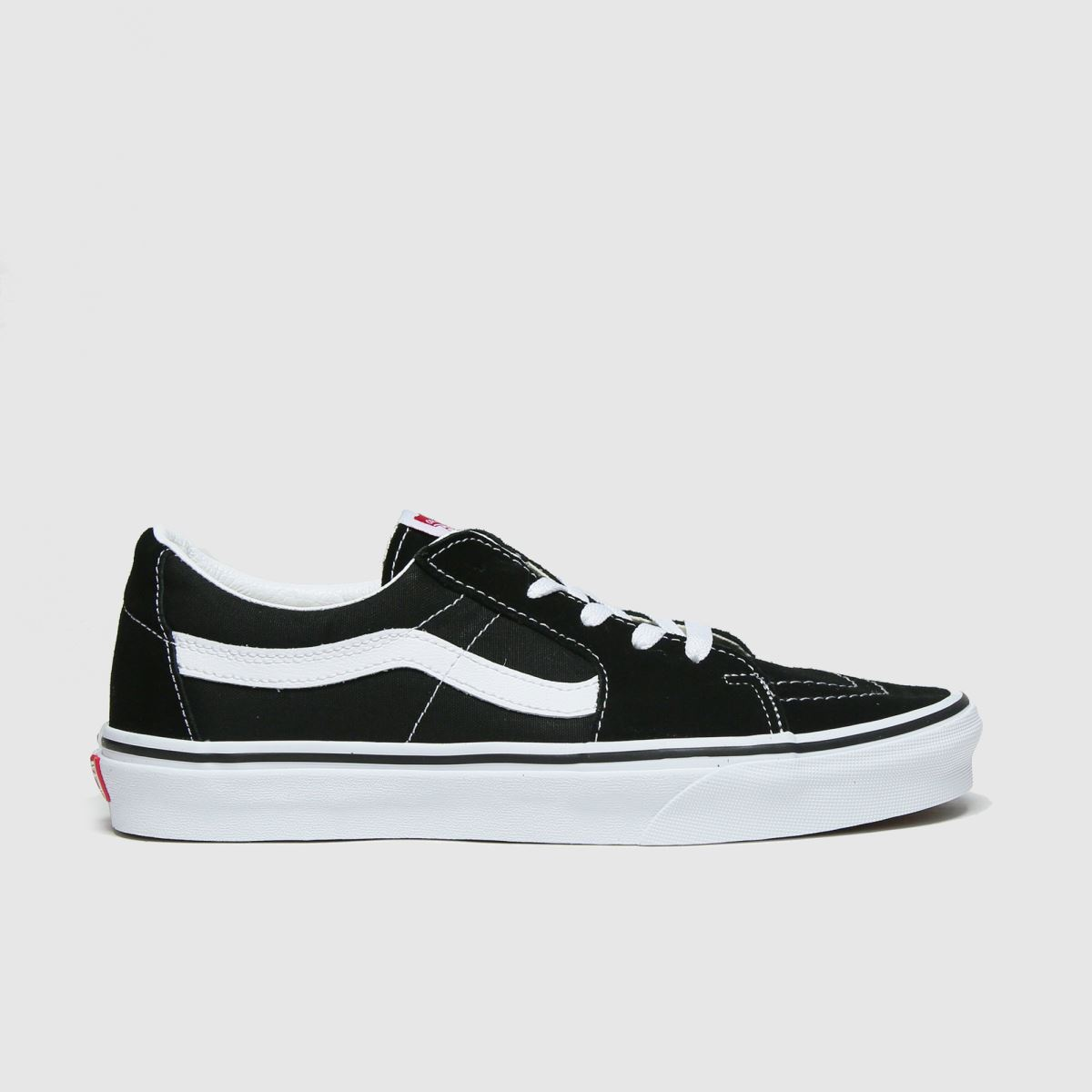 Click to view product details and reviews for Vans Black White Sk8 Low Trainers.