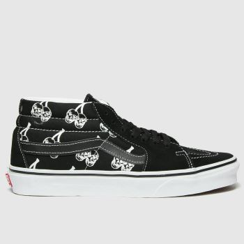 Vans Black Sk8-mid New Varsity Mens Trainers