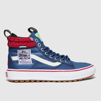 Vans Navy & Red Ua Sk8-hi Mte 2.0 Simpsons Mens Trainers#