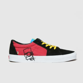 Vans Black & Red Sk8 Low The Simpsons Mens Trainers