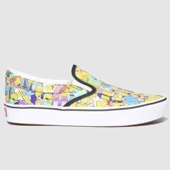 Vans Multi Comfycush Slip Simpsons Mens Trainers#