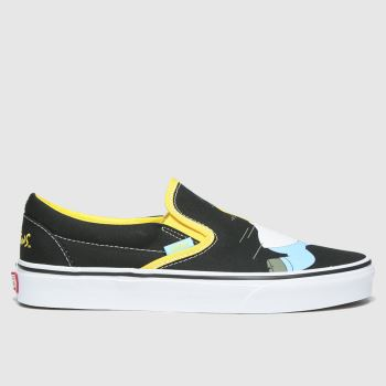 Vans Black & White Classic Slip-on Simpsons Mens Trainers#