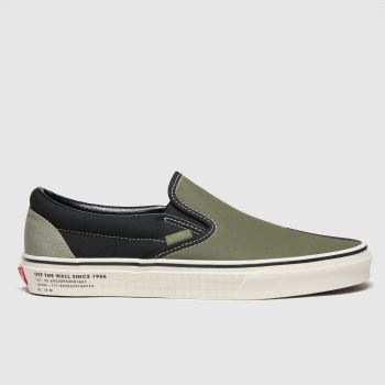 Vans Khaki Classic Slip-on 66 Supply Mens Trainers