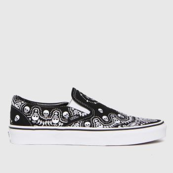 Vans Black & White Slip-on Bandana Mens Trainers