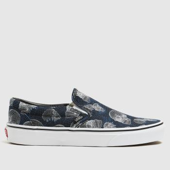 Vans Black and blue Classic Slip-on Mens Trainers