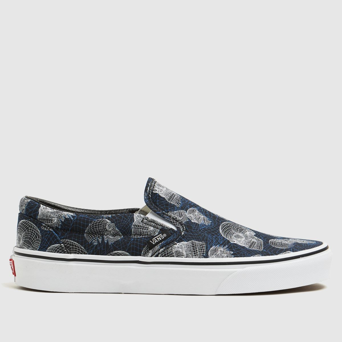 Vans Black And Blue Classic Slip-on Trainers