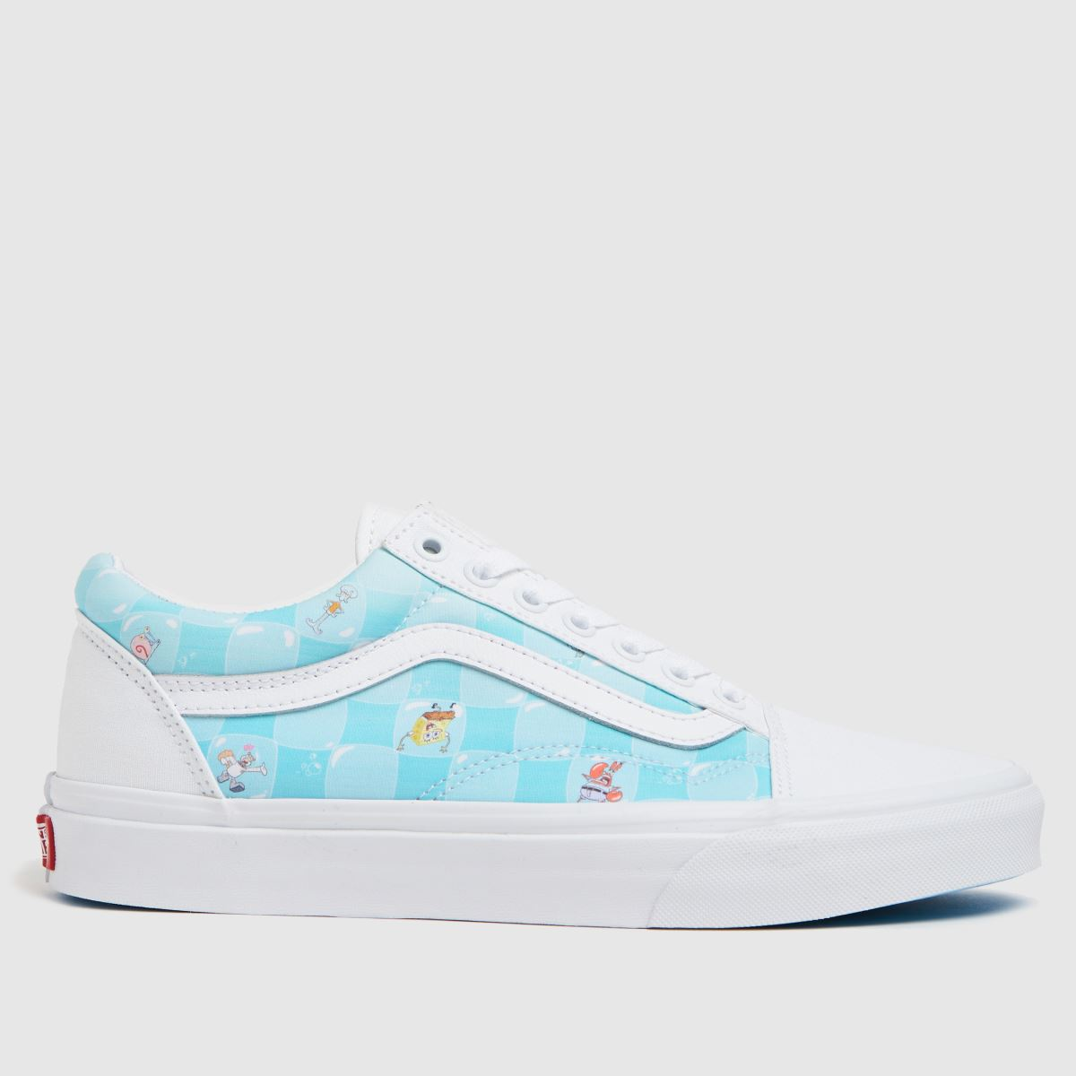 Vans White & Pl Blue Spongebob Old Skool Trainers