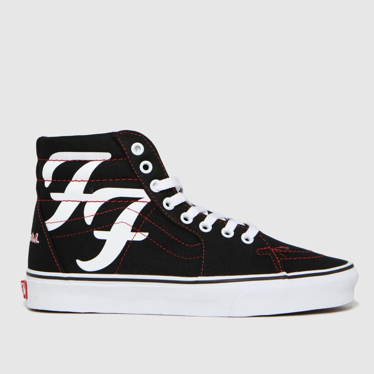 Vans Black & White Sk8-hi Foo Fighters 25th Trainers