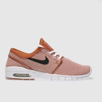 NIKE SB ORANGE STEFAN JANOSKI MAX TRAINERS