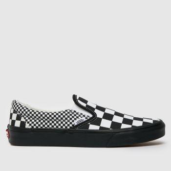 Vans Black & White Mix Checker Slip On Mens Trainers
