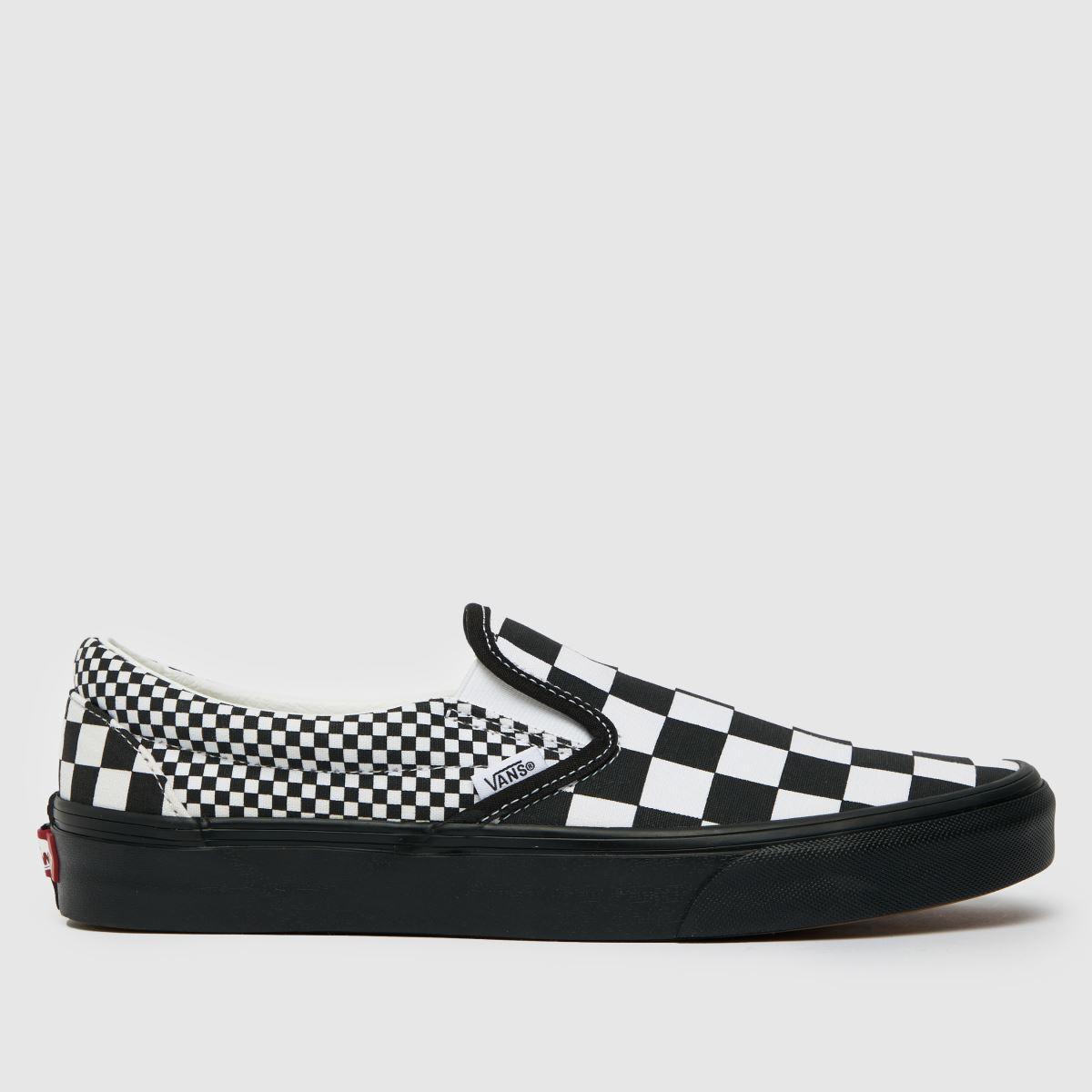 Vans Black & White Mix Checker Slip On Trainers