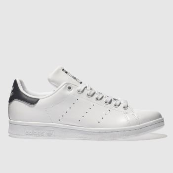 adidas White & Navy Stan Smith Mens Trainers