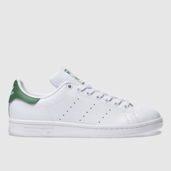 Adidas White & Green Stan Smith c2namevalue::Mens Trainers