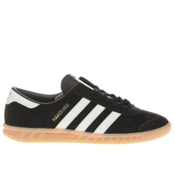 adidas black & white hamburg trainers