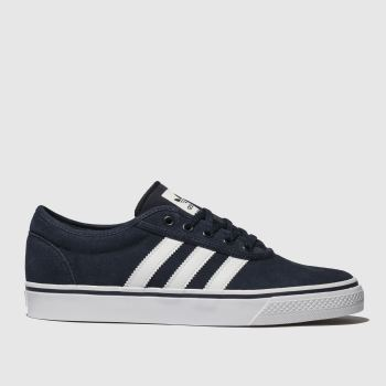Adidas Skateboarding Navy   White Adi-Ease Mens Trainers 934fe576332d